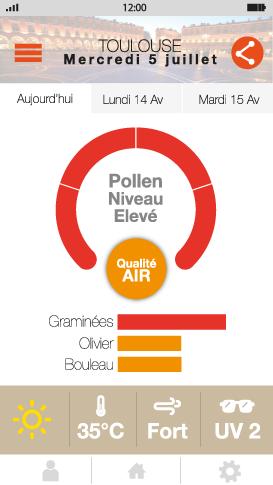 pollen alert mobile weather app